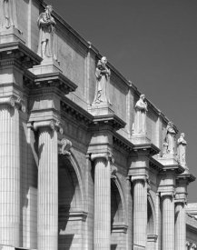 Carol Highsmith - Union Station facade and sentinels, Washington, D.C. - Black and White Variant