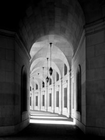 Carol Highsmith - Arched architectural detail in the Federal Triangle located in Washington, D.C. - Black and White Variant