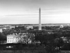 Carol Highsmith - Dawn over the White House, Washington Monument, and Jefferson Memorial, Washington, D.C. - Black and White Variant