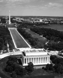 Carol Highsmith - National Mall, Lincoln Memorial and Washington Monument, Washington D.C. - Black and White Variant