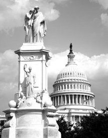 Carol Highsmith - The Peace Monument located in Peace Circle on the grounds of the U.S. Capitol, First St. and Pennsylvania Ave., Washington, D.C. - Black and White Var
