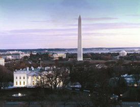 Carol Highsmith - Dawn over the White House, Washington Monument, and Jefferson Memorial, Washington, D.C. - Vintage Style Photo Tint Variant