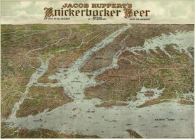 Knickerbocker Beer - Panoramic view of New York City and vicinity, 1912