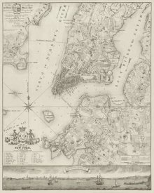 New York Common Council - Plan of the City of New York, copied from the Ratzer Map. Surveyed in the Years 1766-1767.