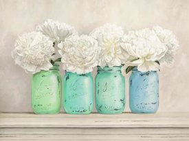 Jenny Thomlinson - Peonies in Mason Jars