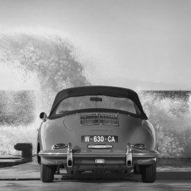 Gasoline Images - Ocean Waves Breaking on Vintage Beauties (BW detail 1)