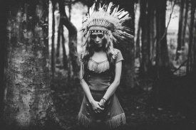Bagasphotowork - Black And White Mood In The Forest
