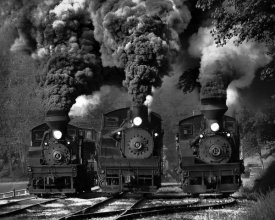 Chuck Gordon - Train Race In Bw