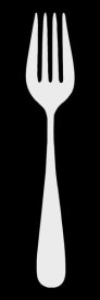 BG.Studio - Mealtime: White on Black - Fork