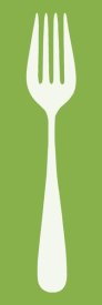 BG.Studio - Mealtime: White on Green - Fork