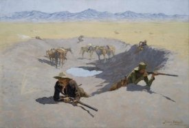 Frederic Remington - Fight for the Waterhole