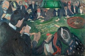 Edvard Munch - At the Roulette Table in Monte Carlo, 1892