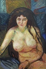 Edvard Munch - Female Nude; The Beast, 1902