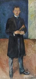 Edvard Munch - Self-Portrait with Brushes, 1904