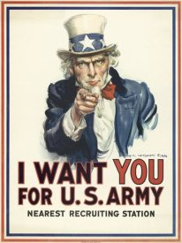 James Montgomery Flagg - I want you for U.S. Army, c. 1917