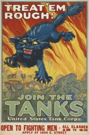 August Hutaf - Treat 'em Rough - Join the Tanks, 1917