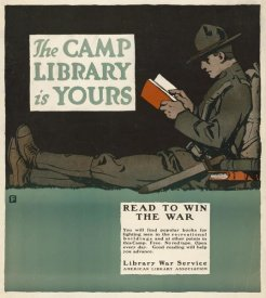 Charles Buckles Falls - The Camp Library is Yours - Read to Win the War, 1917