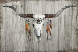Avery Tillmon - Longhorn on Dark Gray Wood