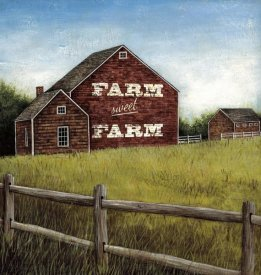 David Carter Brown - Weathered Barns Red with Words