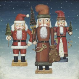 David Carter Brown - Santa Nutcrackers Snow