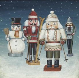 David Carter Brown - Skier Nutcrackers Snow