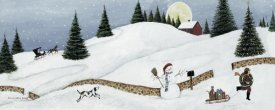 David Carter Brown - Christmas Valley Snowman Crop