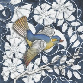 Elyse DeNeige - Arts and Crafts Bird Indigo III