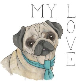 Elyse DeNeige - Puppy Love Pug Color