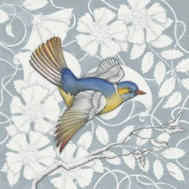 Elyse DeNeige - Arts and Crafts Birds III Tone on Tone