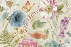 Lisa Audit - Rainbow Seeds Flowers I Linen