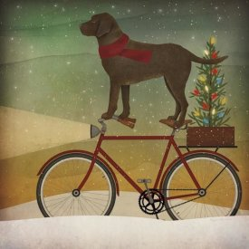 Ryan Fowler - Brown Lab on Bike Christmas