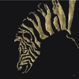 Chris Paschke - Gilded Zebra on Black