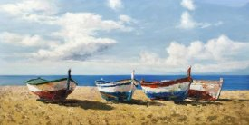 Pierre Benson - Boats on the Beach
