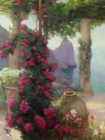 Karl Maria Schuster - The Terrace, Capri (detail)