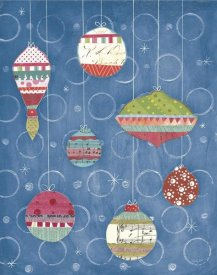 Courtney Prahl - Retro Ornaments I Blue