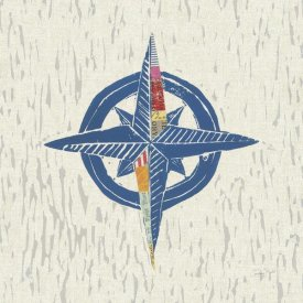 Courtney Prahl - Nautical Collage I on Linen