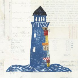 Courtney Prahl - Nautical Collage II on Newsprint