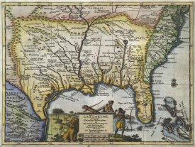Pieter Vander Aa - Texas and Florida, 1706
