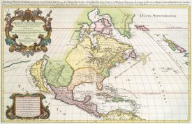 Hubert Jaillot - America with California Shown as an Island, 1694