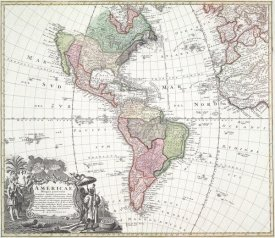Homann Heirs - North and South America, 1746