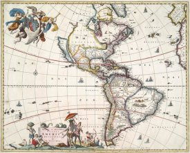 Nicolaas Visscher - North and South America, 1658