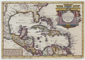 Pieter Vander Aa - Central America and the Caribbean, 1729
