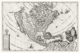 Henrich Scherer - Atlas Novus - North America, Central America and the Caribbean, 1700