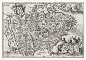 Henrich Scherer - Atlas Novus - North American European Territories, 1700