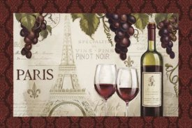 Janelle Penner - Wine in Paris I Damask Border