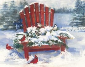 Carol Rowen - Red Chair in Winter
