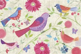 Farida Zaman - Damask Floral and Bird I
