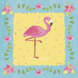 Farida Zaman - Flamingo Dance I Sq Border