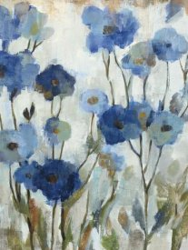 Silvia Vassileva - Abstracted Floral in Blue III