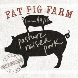 Sue Schlabach - Farm Linen Pig Black